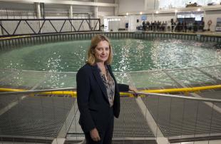 Minister at FloWave's Ocean Energy Research Facility