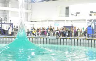 Spike wave demonstration at FloWave's doors open day event