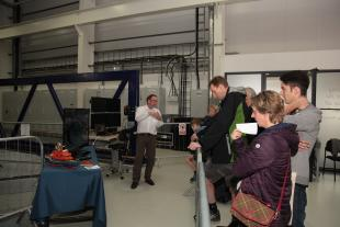 Stuart Brown giving a tour of the FloWave facility on Doors Open Day